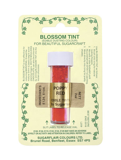 Sugarflair Blossom Tint - Poppy Red
