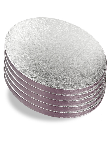 9 Inch Cake Board Pack of 5 Round Silver Fern