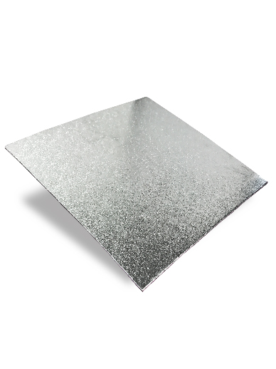 5'' Square Silver Turn Edge Cake Card (1.75mm Thick)