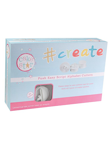 Cake Star Push Easy Cutters - Script Alphabet Cutters