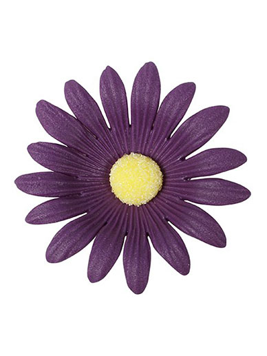 Soft Sugar Daisies - Purple 50mm - Box of 20