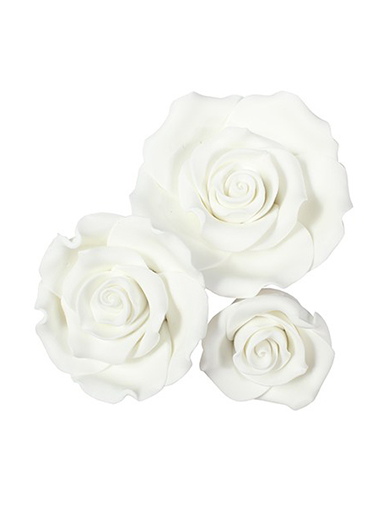 Soft Sugar Roses - Mixed Pack - White