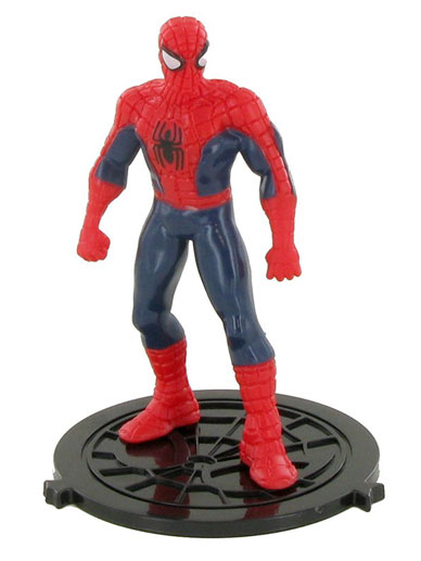 Admirable Spiderman Standing Figure Cake Topper The Vanilla Valley Funny Birthday Cards Online Unhofree Goldxyz