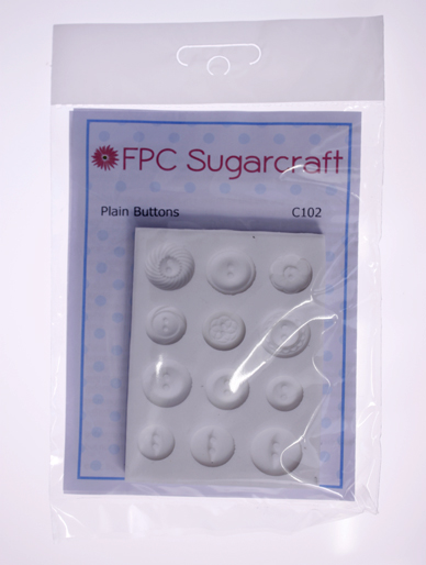 Plain Buttons Silicone Mould