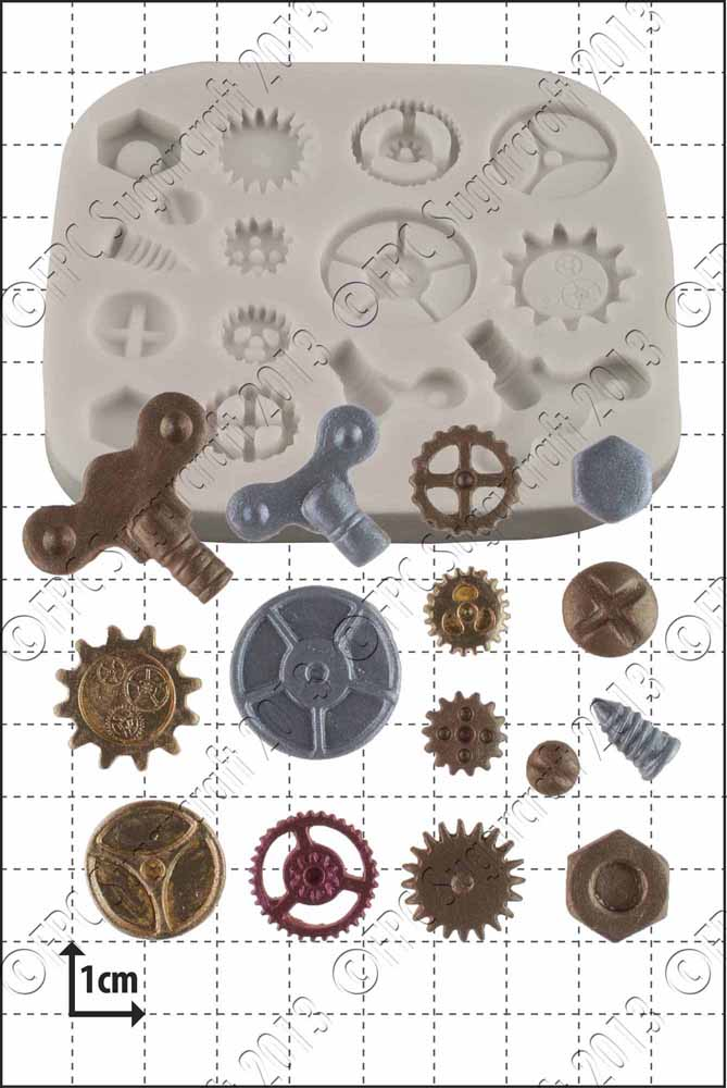 Steam Punk Cogs and Gears Silicone Mould