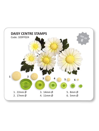Daisy Centre Stamps - Set of 6 Cutters