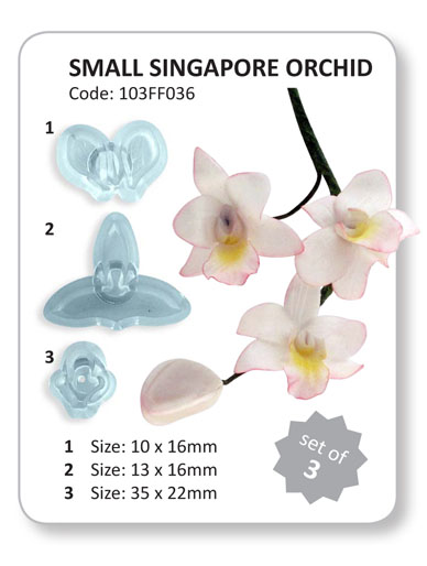 Singapore Orchid - Set of 3 Cutters