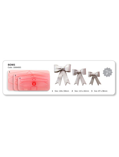 Bows (Size 4-6) - Set of 3 Cutters