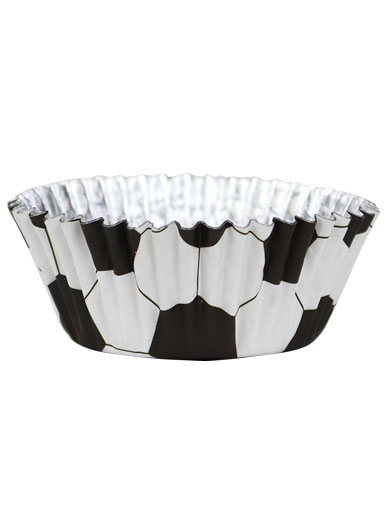 PME Football Foil Lined Cupcake Cases - Pack of 30