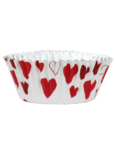 PME Hearts Foil Lined Cupcake Cases - Pack of 30