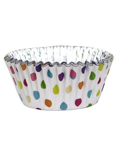 PME Polka Dot Foil Lined Cupcake Cases - Pack of 30