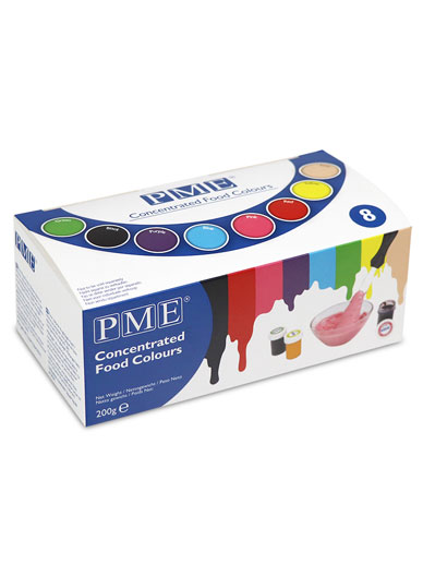 PME Concentrated Food Colours - Set of 8