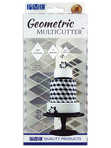 PME Geometric Multi Cutter Set of 3 - Diamond