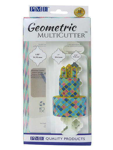 PME Geometric Multi Cutter Set of 3 - Moroccan Lantern