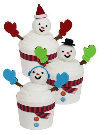PME Cup Kit Cupcakes & Sugar Decorations - Snowmen