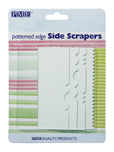 Patterned Edge Side Scrapers - Set of 4