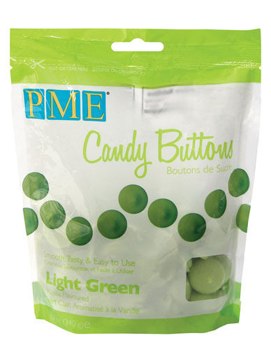 PME Light Green Candy Buttons 12oz