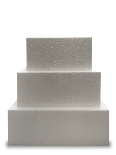 Square Single STRAIGHT Cake Dummy - 5'' Deep