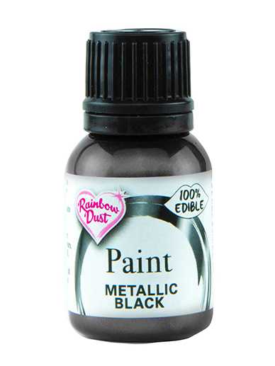 Rainbow Dust Paint - Metallic Black
