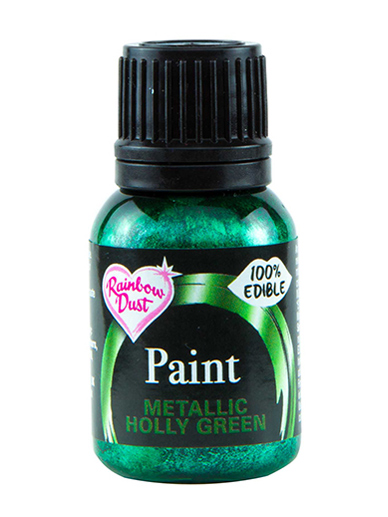 Rainbow Dust Paint - Metallic Holly Green