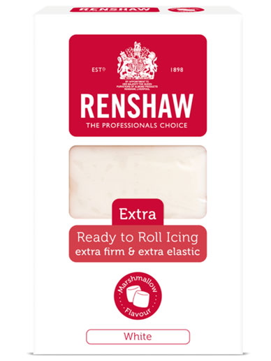 Renshaw EXTRA Ready-to-Roll Icing - White Marshmallow Flavoured 1KG
