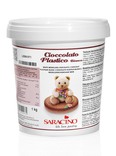 Saracino White Chocolate Modelling Paste 1kg