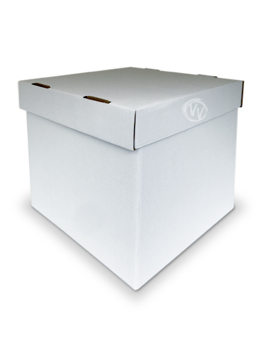 Vanilla Valley White Stacked Cake Boxes