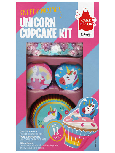 Cake Décor Unicorn Cupcake Decorating Kit