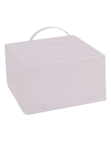 ChocoPatiss Plastic Half Height Cake Box - Frosted