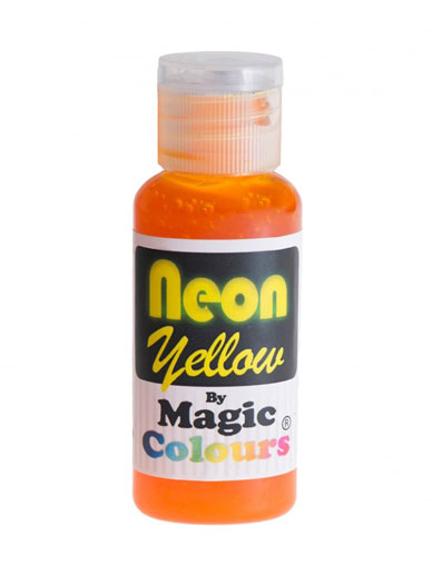 Magic Colours Neon Paste Colour - Yellow