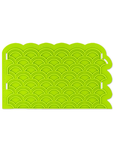 Scalloped Lattice Silicone Onlay Mould - Marvelous Molds
