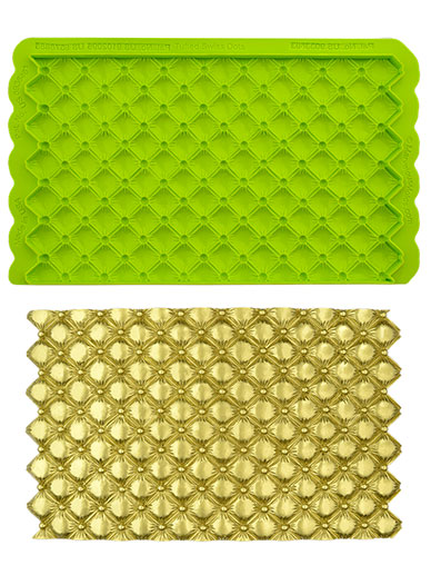 Tufted Swiss Dot Quilted - Simpress Mould - Marvelous Molds
