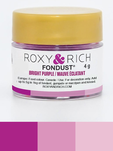 Roxy & Rich Fondust 4g - Bright Purple