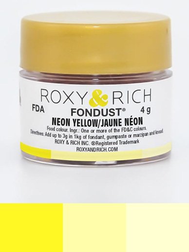 Roxy & Rich Fondust 4g - Neon Yellow