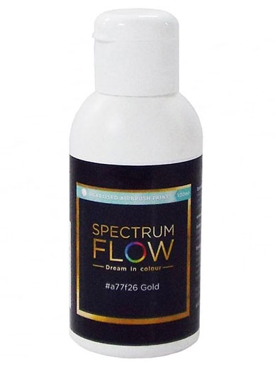 Spectrum Flow - Pearlised Airbrush Colour 100ml - Gold