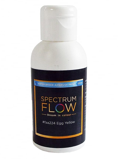 Spectrum Flow - Water Based Airbrush Colour 100ml - Egg Yellow