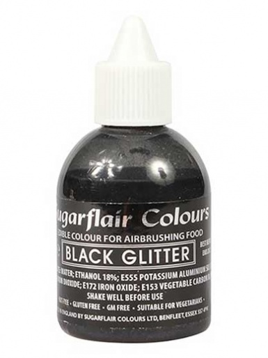 Sugarflair Airbrush Colour - Glitter Black
