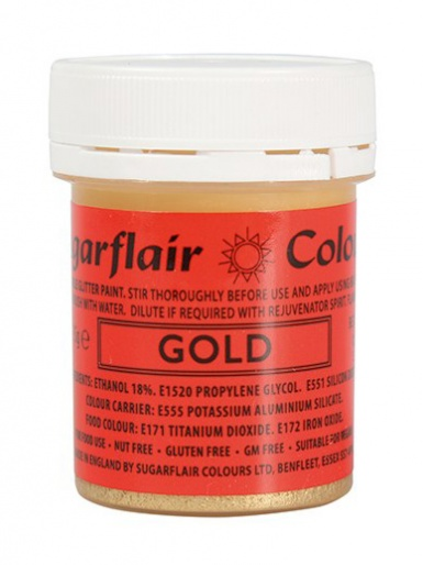 Sugarflair GLITTER PAINT - Gold