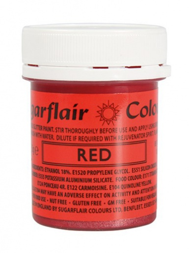 Sugarflair GLITTER PAINT - Red