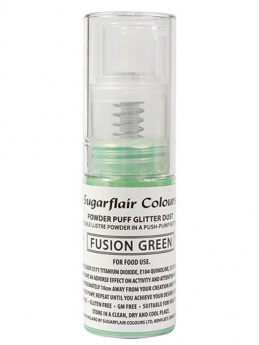 Sugarflair Powder Puff Glitter Non-Aerosol Spray - Fusion Green