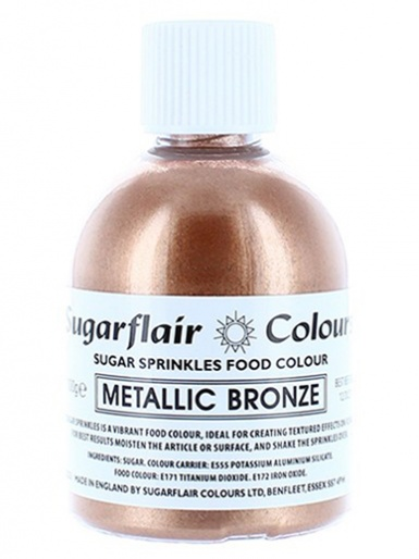 Sugarflair Sugar Sprinkles - Metallic Bronze