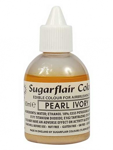 Sugarflair Airbrush Colour - Pearl Ivory