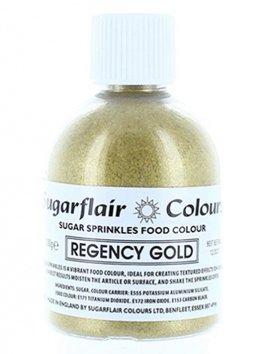 Sugarflair Sugar Sprinkles - Regency Gold