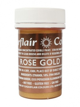 Sugarflair PAINT - Rose Gold