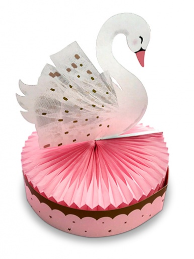Swan Honeycomb Table Centre Piece