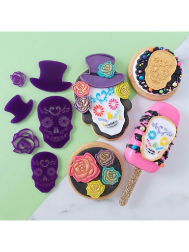 Sweet Stamp -  DAY OF THE DEAD - Elements Embossing Set