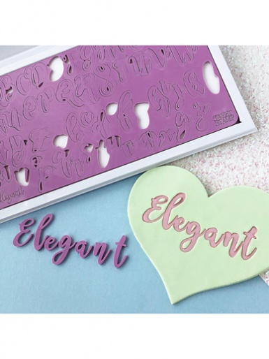 Sweet Stamp - ELEGANT (large) Letters Embossing Set