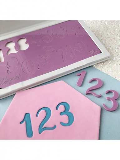 Sweet Stamp - ELEGANT Numbers & Symbols Embossing Set