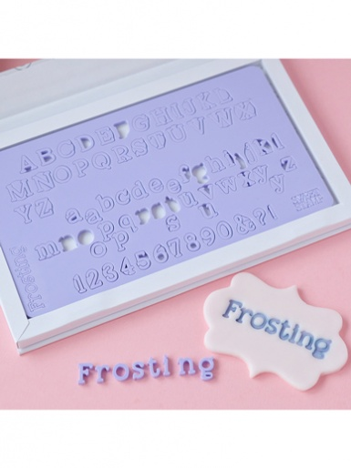 Sweet Stamp - FROSTING Edition (Small) Uppercase, Lowercase, Numbers & Symbols Embossing Set