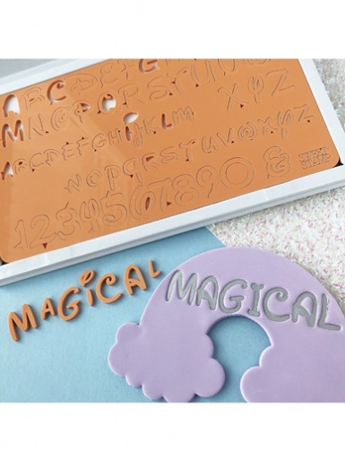 Sweet Stamp - MAGICAL Uppercase, Lowercase, Numbers & Symbols Embossing Set